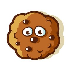 Chocolate Chip Cookie Cartoon Vector Illustration