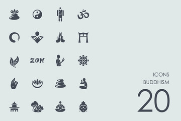 Set of buddhism icons