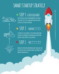 Rocket ship launch. Start Up concept vector illustration