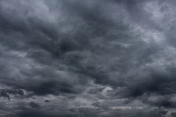 Dark storm clouds sky