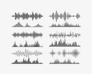 Vector signal waves. Radio frequency waves or sound analog and digital waves forms