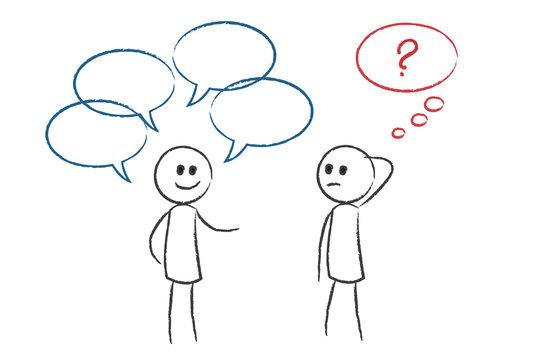Missverständnis - Person redet und andere Person versteht es ni