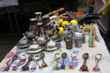 souvenirs, the Turk for coffee, a tea spoon