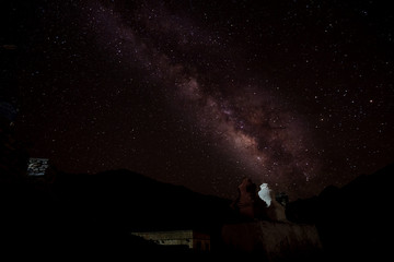 Milky way over Pibiting Monastery