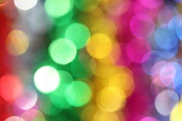Colorful blur lights bokeh background, Christmas lights bokeh ba