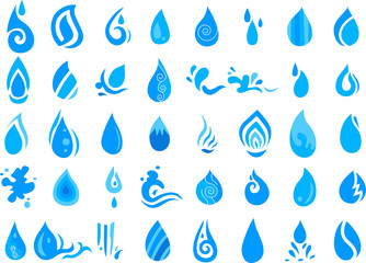 collection of water icon