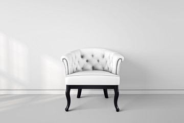 Vintage arm chair interior render