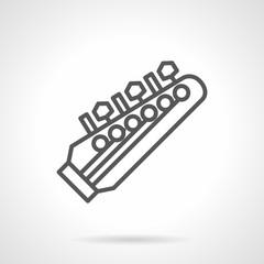 Guitar tuning simple line vector icon