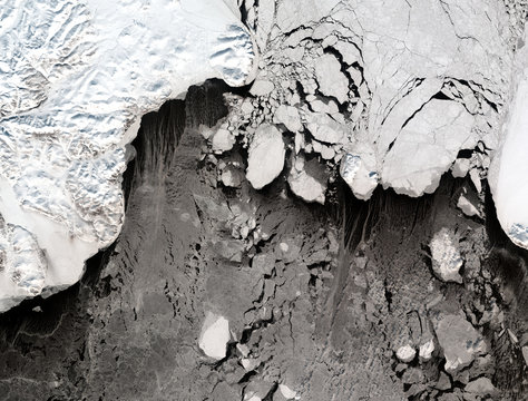 Bering Strait from Landsat satellite. Elements of this image furnished by NASA