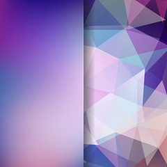 Abstract polygonal vector background. Colorful geometric vector illustration. Creative design template. Abstract vector background for use in design. Purple colors.