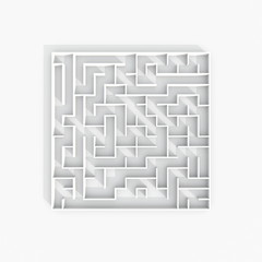3d illustration rendering plan view of labyrinth