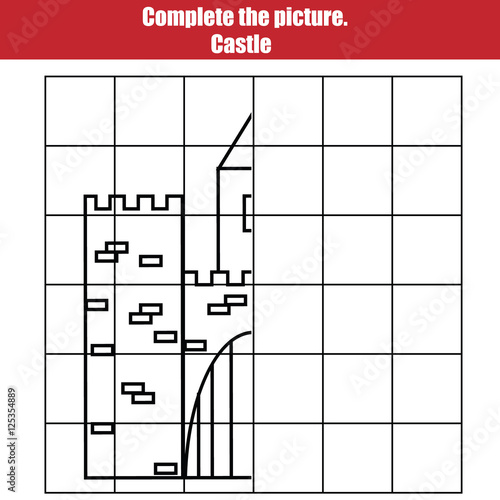 Grid Copy Game Complete The Picture Children Printable Kids