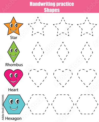 Quot Handwriting Practice Sheet Educational Children Game