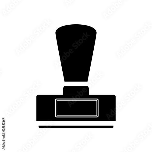 monochrome with office stamp shape vector illustration fichier vectoriel libre de droits sur. Black Bedroom Furniture Sets. Home Design Ideas