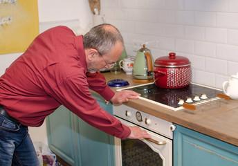 Man on the kitchen