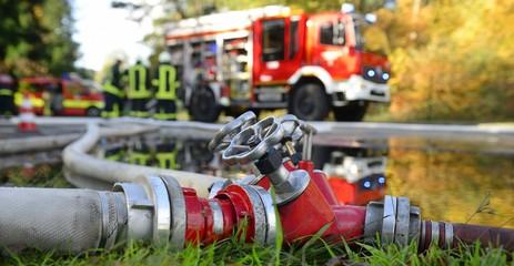 Banner Feuerwehr Verteiler B-CBC im Einsatz