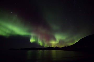 Aurora storm reflections