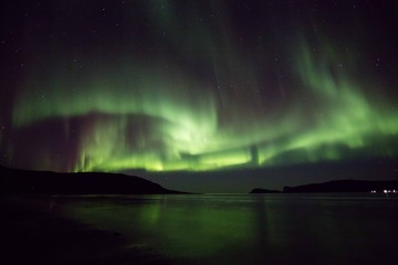 Aurora storm in Norway