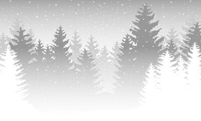 Wald im Winter - Grau