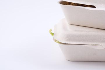 Thai food in plant fiber food box