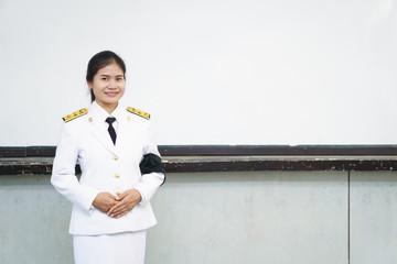 Thai formal officer uniform