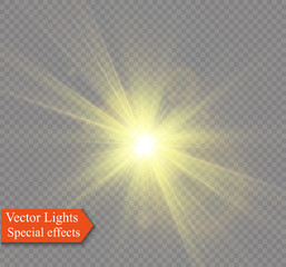 Glow light effect. Star burst with sparkles. Vector illustrationGlow light effect.