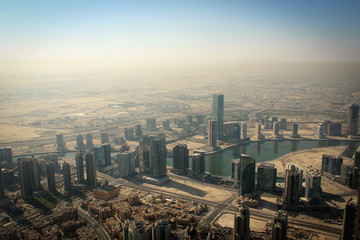 Panorama of the city of Dubai, United Arab Emirates