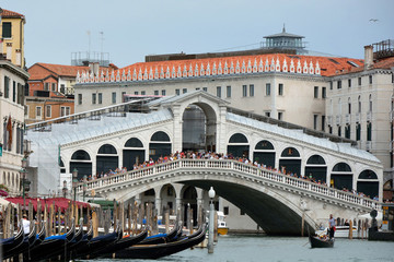 Rialto Bridge in Venice - Italy.