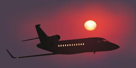 Avion - Jet - Homme d'affaires - vol privé