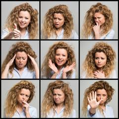 Woman facial expressions