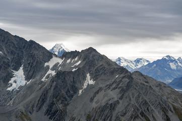 Mountain range at Aoraki Mount Cook National Park, New Zealand