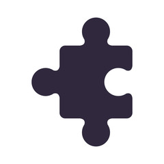 dark blue piece of puzzles vector illustration