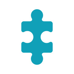 light blue piece of puzzles vector illustration