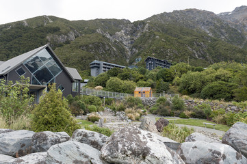 The Hermitage Hotel in Mount Cook Village located in Hooker Valley within New Zealand's Aoraki / Mount Cook National Park