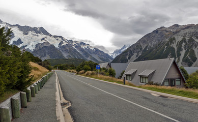 Mount Cook Village located in Hooker Valley at the base of New Zealand's highest mountain, Aoraki / Mount Cook.