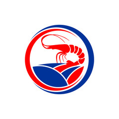 Shrimp Farm - Vector Logo Icon