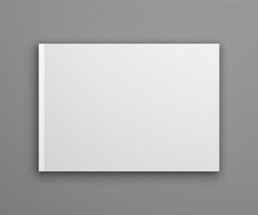 Spoed Fotobehang Grijs Blank 3D illustration A4 landscape brochure cover mockup