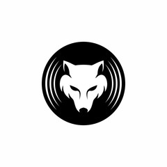 Wolf Recording - Vector Logo Icon