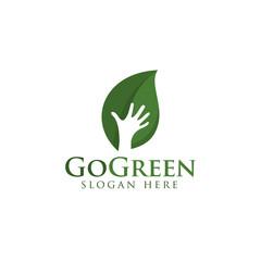 GoGreen concept logo design vector