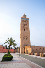 Famous mosque of Marrakech - Morocco