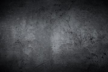 Foto op Canvas Betonbehang Empty black concrete stone surface texture