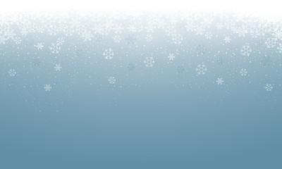 Hintergrund Schnee - Hellblau