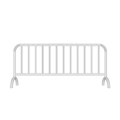 Barricade.Isolated on white.Vector outline illustration.