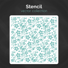 Stencil. Laser cuting template. Seamless pattern for decorative panel.