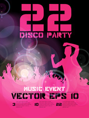 Party Background. Dancing people. Vector
