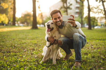 Selfie with a dog