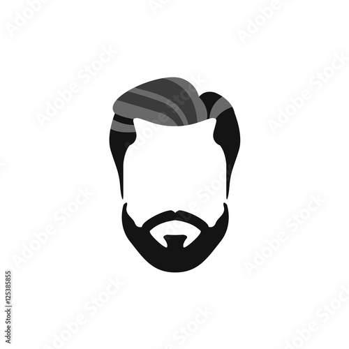 hipster male hair and facial style with beard chevron moustache rh fotolia com