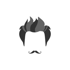 Hipster Male Hair and Facial  Style With French Moustache