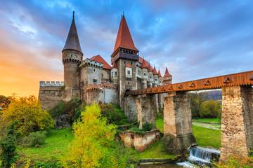 Hunyad Castle / Corvin's Castle in Hunedoara, Romania. Wall mural