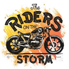 Vintage Motorcycle hand drawn t-shirt print